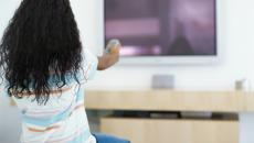 Thinkstockphotos Stk323177Rkn Girl Pointing Remote At Tv