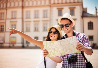 174105711 Couple Traveling With Map