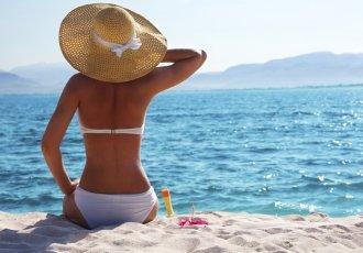 178376981 Woman Resting On Beach