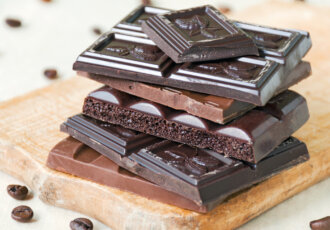 Dark Chocolate bars on board