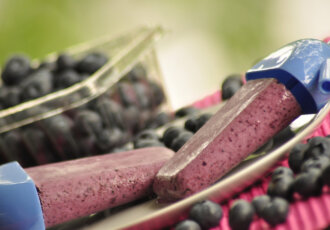 Greek Yogurt Blueberry Popsicles