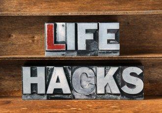 Life Hacks Sign 498723406