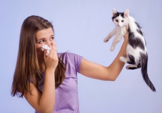 Thinkstockphotos 177006997 Woman Allergic To Cat
