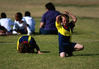 Thinkstockphotos 99260830 Child Injured During Soccer Game