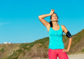 Woman Jogger Dehydration