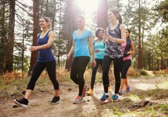 Women Walking on Trail