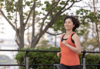 Female athlete runner jogger