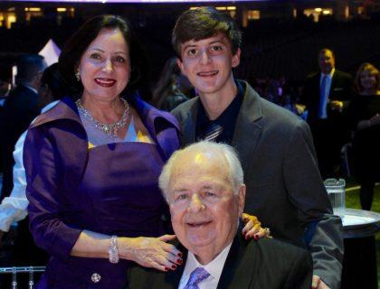 (L-R) Gayle Benson, Tom Benson, Cameron Richard
