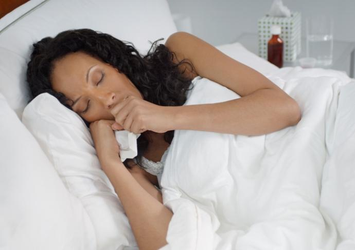 103583279 Woman With Flu In Bed