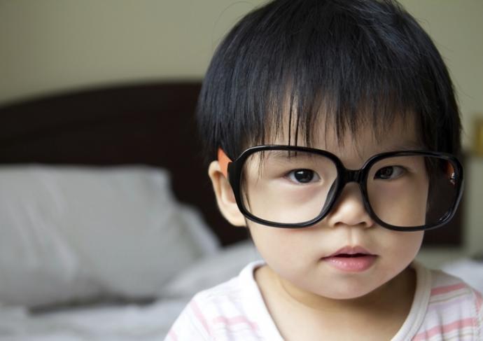 177294421 Tot Wearing Adult Glasses