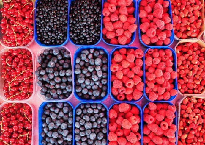 Antioxidant rich berries