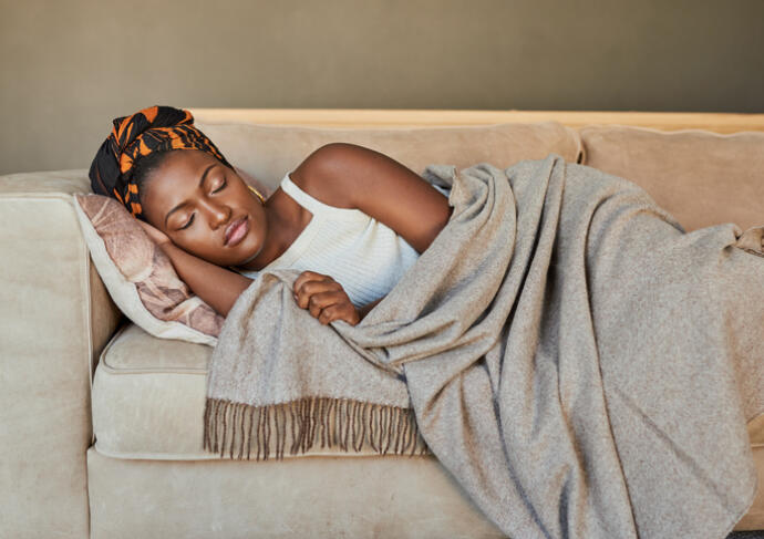 Black Woman Sleeping