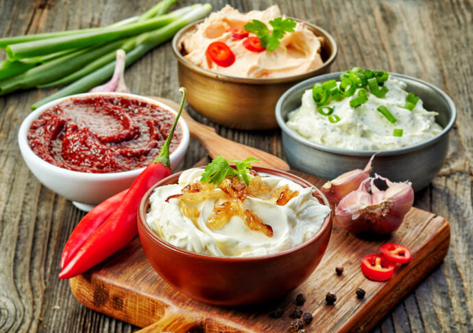 Creamy Dips with Vegetables