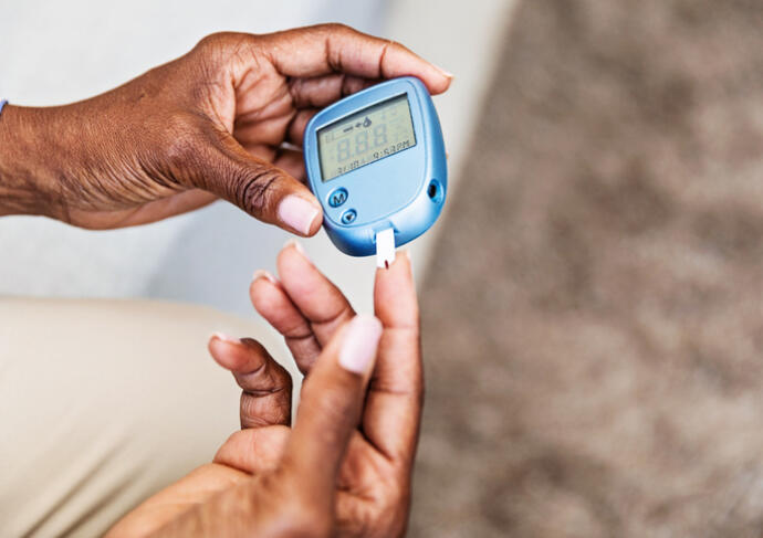 Diabetes taking blood sugar