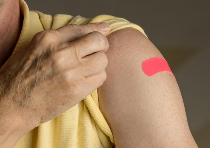 Flu shot bandaid