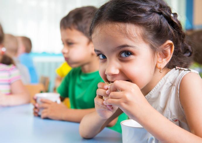 Kid Eating Snack