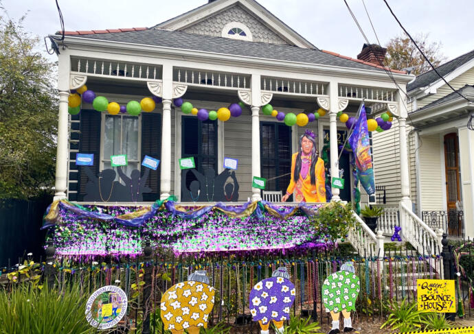 Krewe of House Floats Queen of Bounce House