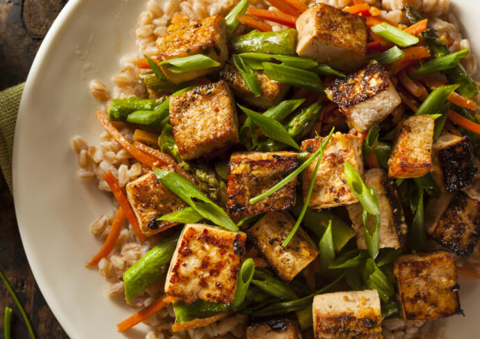 Meatless Recipe Tofu Stir Fry