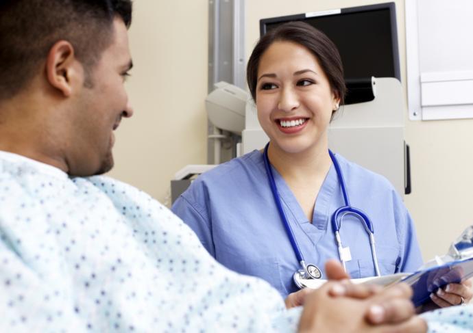 Thinkstockphotos 76801646 Healthcare Worker With Patient