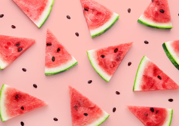 Watermelon Wedges from above
