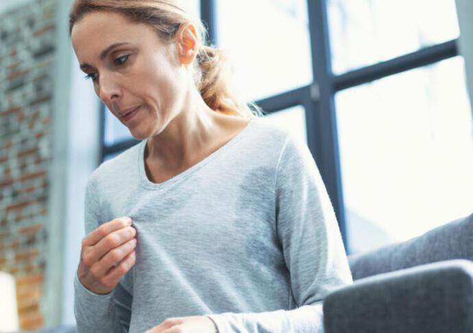 Woman Sweating Menopause 1