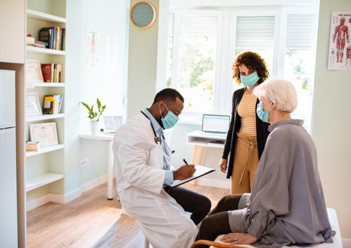 Caregivers preparing for doctor visit