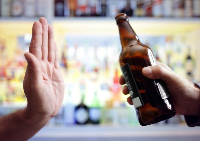 Hand Rejecting Alcohol