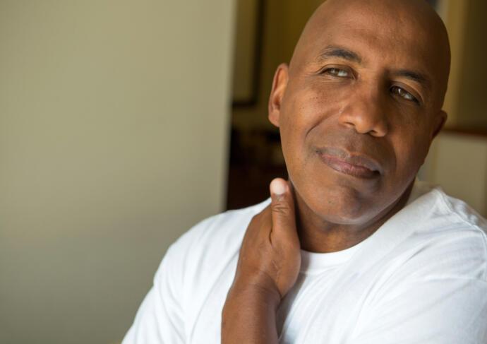 Pain management massage neck man