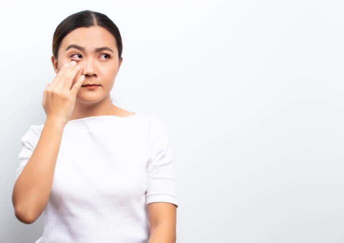 Pink eye coronavirus symptom
