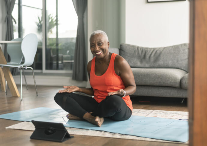 Woman engaging in heart healthy activities