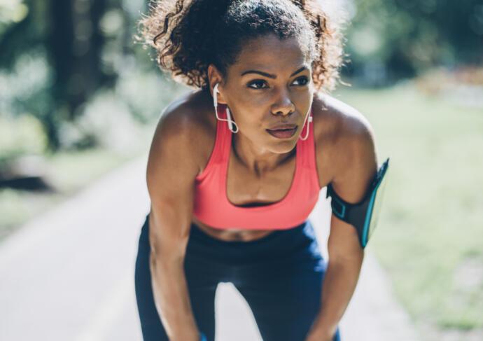 Woman jogger sports