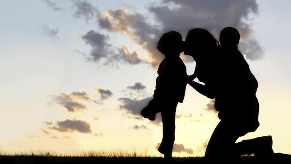 490696481 Mother With Children Hugging And Kissing