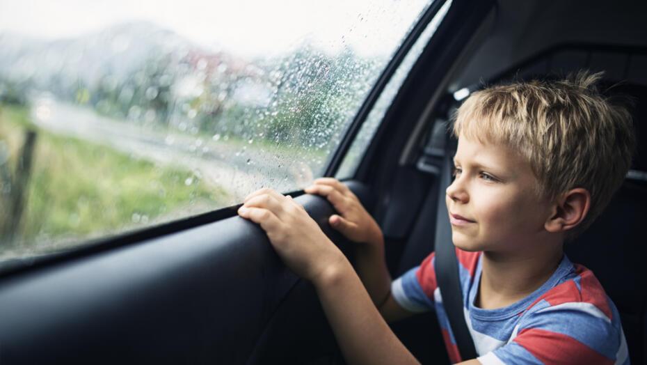 Child Rainy Window Hurricane