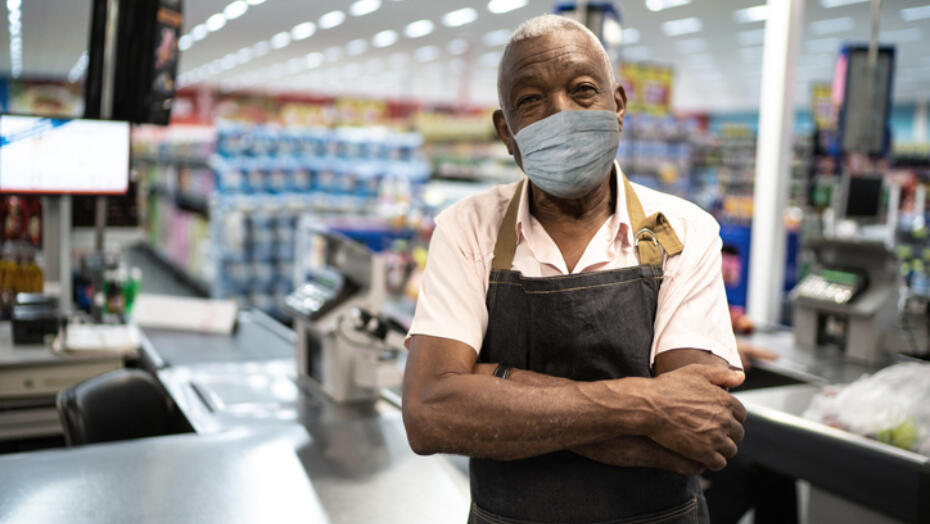 Colon Cancer Man in Grocery