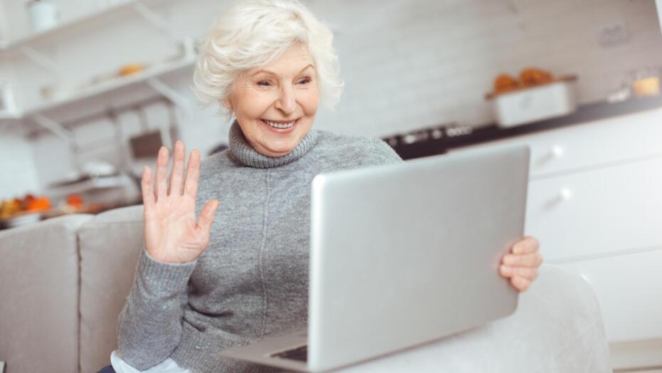 Elderly Facetime