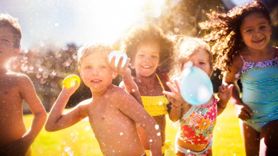 Getty 469932508 kids with water balloons