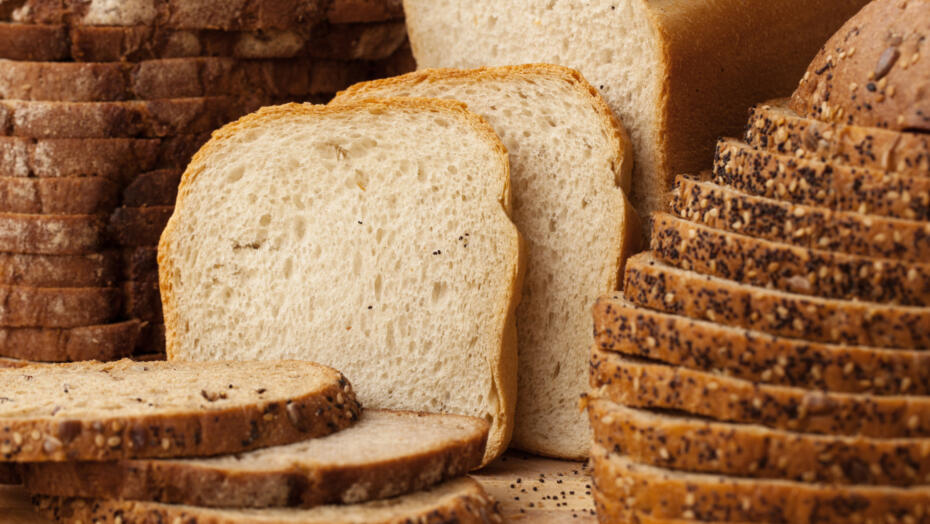 Gluten free bread slices