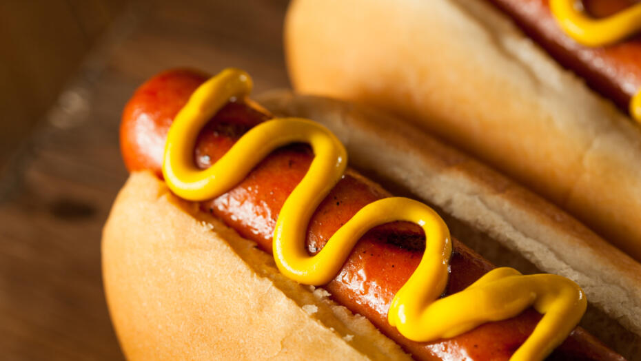 Grilled Hot Dogs with Mustard