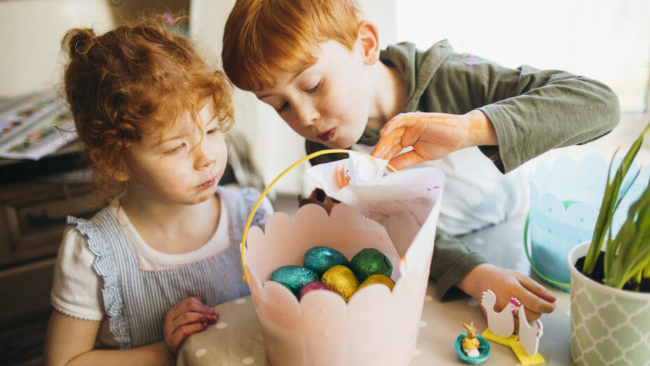 Kids at Easter