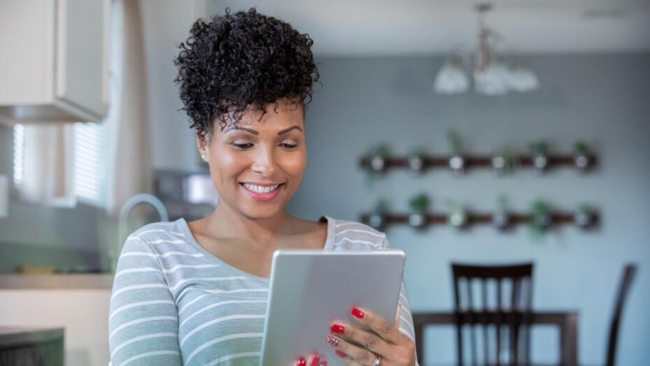 Telemedicine telehealth anywhere care woman on tablet 1