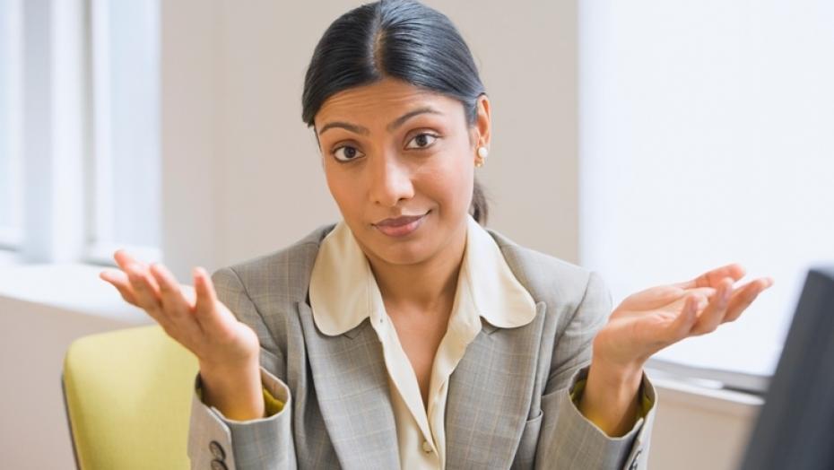 Thinkstockphotos 73773953 Indian Businesswoman Shrugging Shoulders Resized