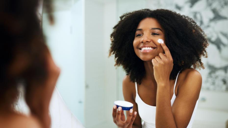 Girl skincare dermatology