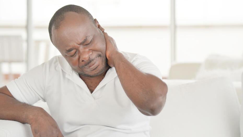 Joint pain neck pain older man 1164677512
