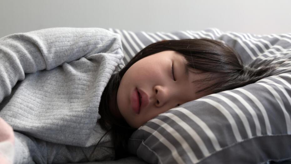 Sleep apnea in children sleeping child
