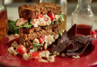 Mediterranean Tuna White Bean Sandwich photo credit Camellia Beans