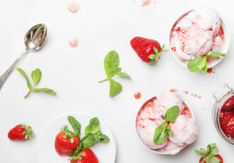 White Bean Berry Ice Cream