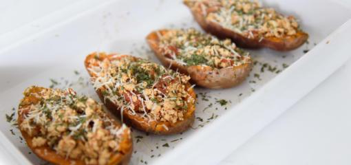Turkey Taco Stuffed Sweet Potatoes (Recipe)