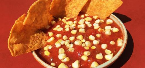 Corn and Peach Summertime Salsa