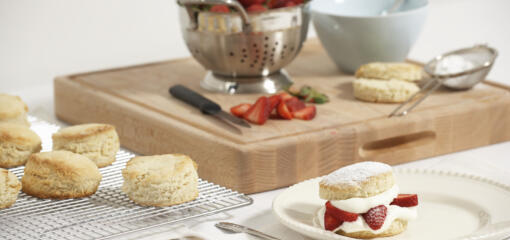 Strawberry Shortcake English Scones (Recipe)