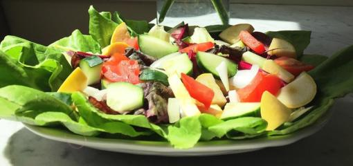 Summer Salad with Squash and Chard (Recipe)